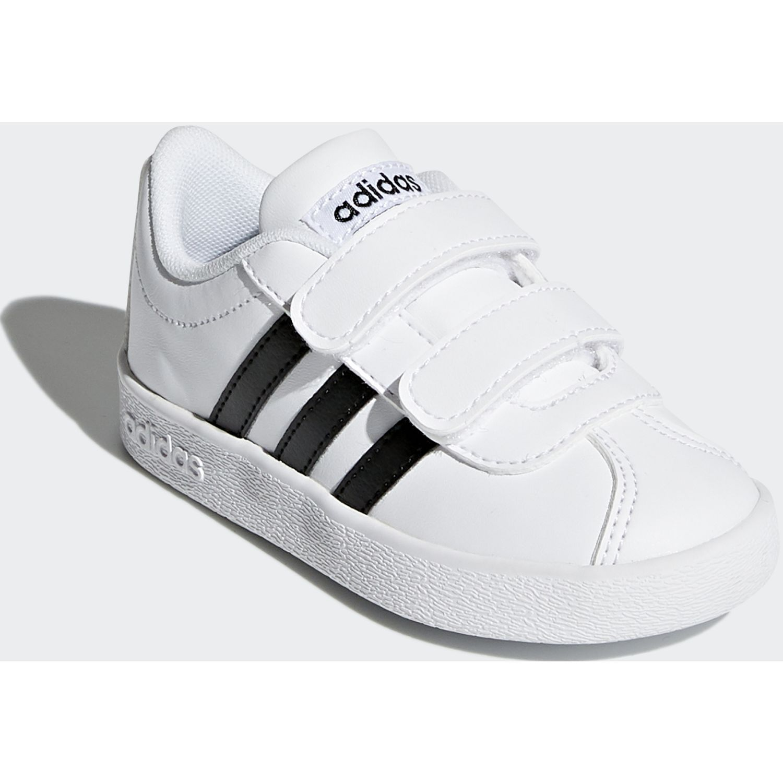 Adidas vl court 2.0 cmf i Blanco / negro Walking