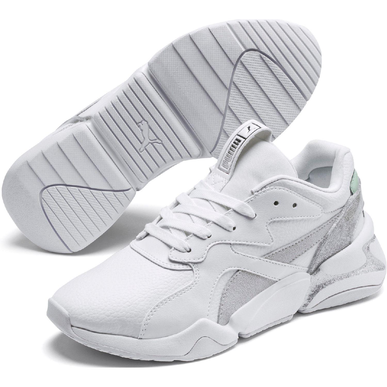 Puma nova glitz wn's Blanco / gris Walking