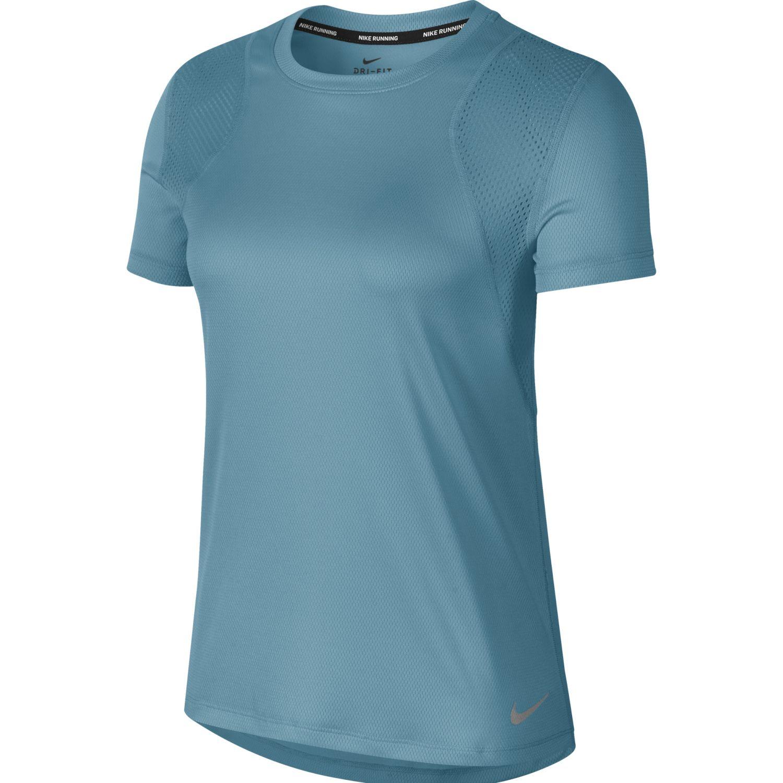 Nike W Nk Run Top Ss Celeste Camisetas y polos deportivos