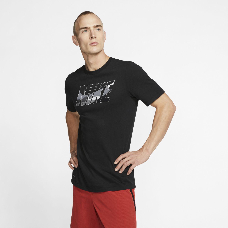 Nike M Nk Dry Tee Block Camo Negro Camisetas y Polos Deportivos