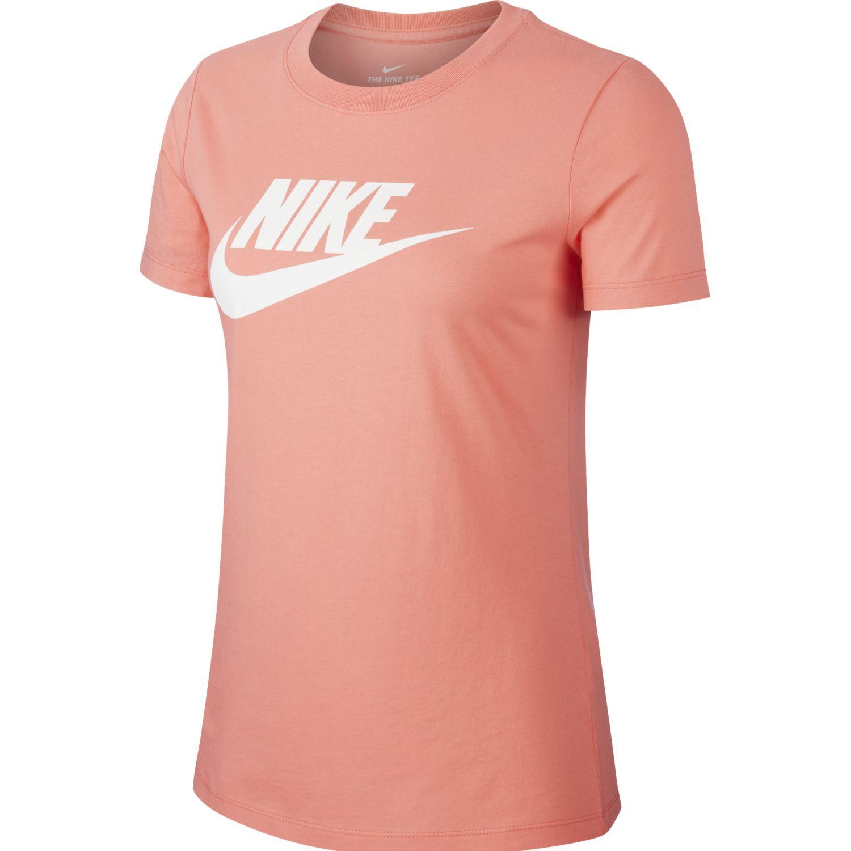 Nike W Nsw Tee Essntl Icon Futura Coral Polos