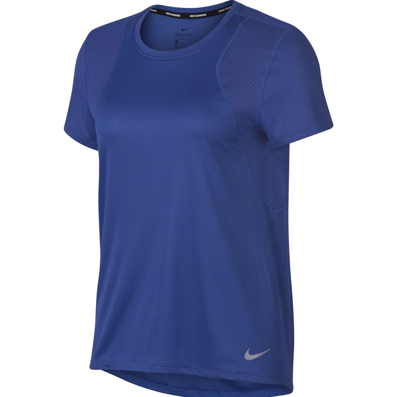 Nike W Nk Top Ss Run Azul Camisetas y polos deportivos