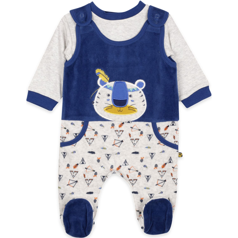 PILLIN Osito Plush Bebé Niño Azul Peleles