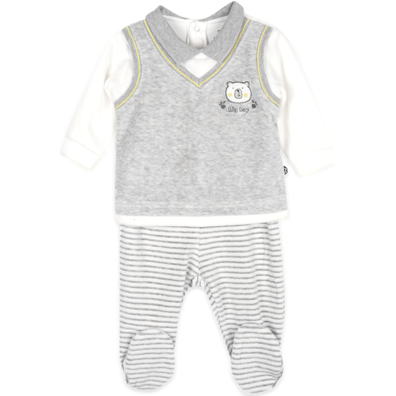 PILLIN Conjunto Plush Bebé Niño Blanco / gris Juegos de ajuar para bebé