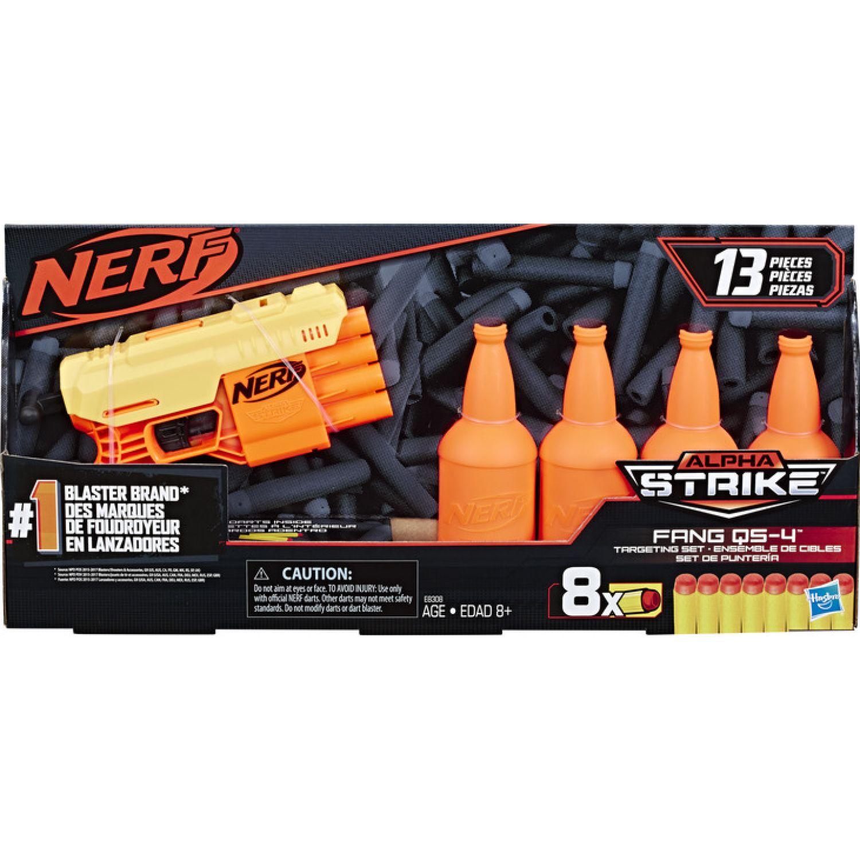 NERF Ner Alpha Strike Fang Qs 4 Target Set Varios Pistolas de agua