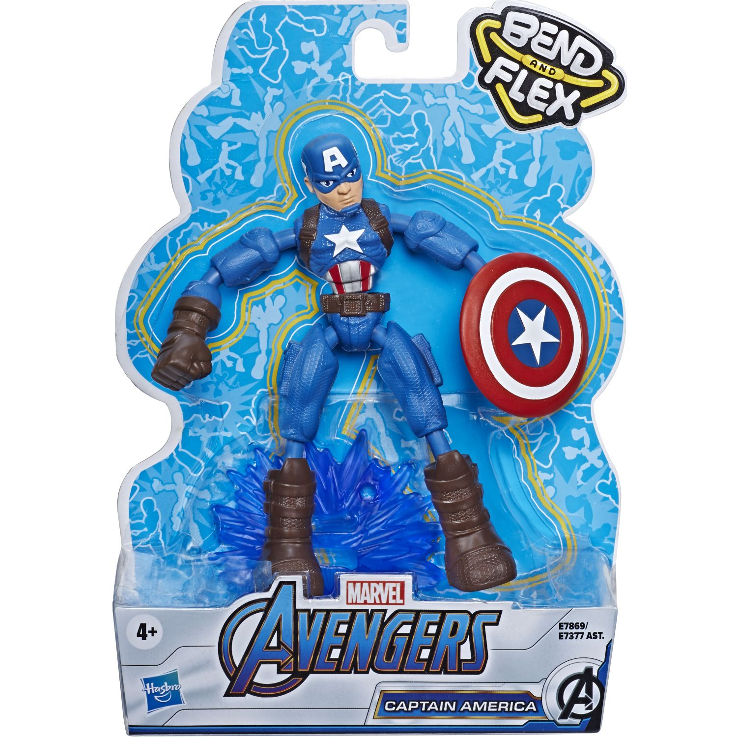 Avengers Avn Bend And Flex Captain America Varios Figuras de Acción