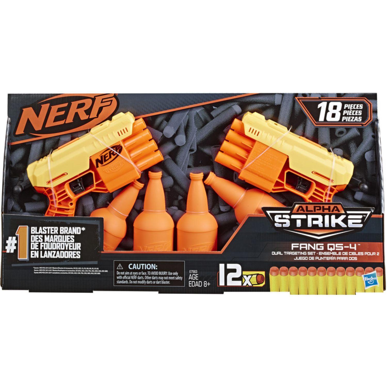 NERF NER ALPHA STRIKE FANG QS 4 DUEL TGT SET Varios Las pistolas de agua, Blasters y maduradores