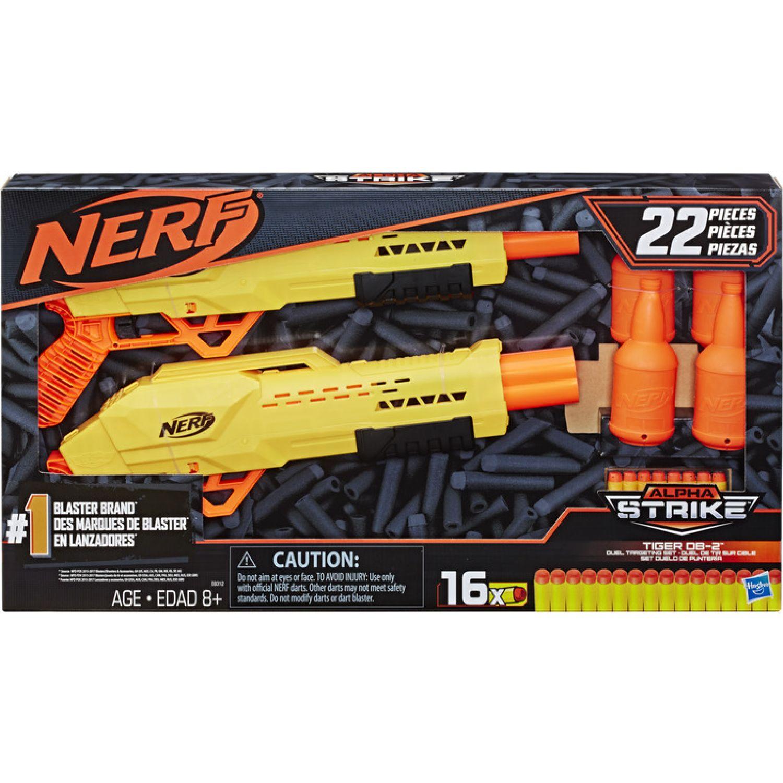 NERF NER ALPHA STRIKE TIGER DB 2 TARGET SET Varios Las pistolas de agua, Blasters y maduradores