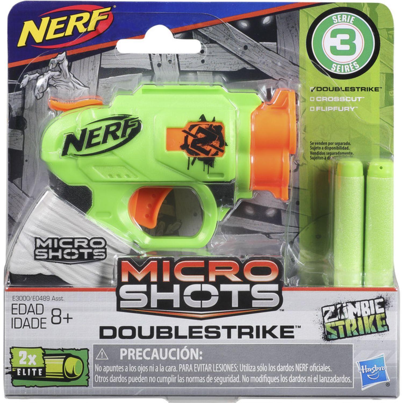 NERF NER MICROSHOTS DOUBLESTRIKE SE 3 Varios Las pistolas de agua, Blasters y maduradores
