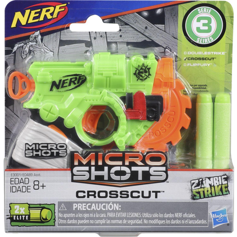 NERF Ner Microshots Crosscut Se 3 Varios Pistolas de agua