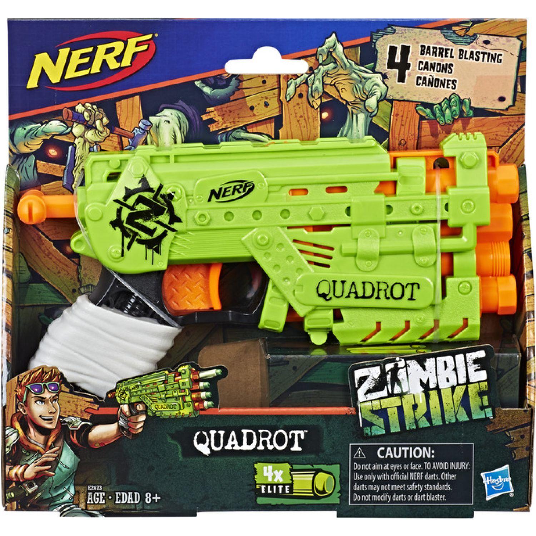 NERF Ner Zombie Strike Quadrot Varios Pistolas de agua