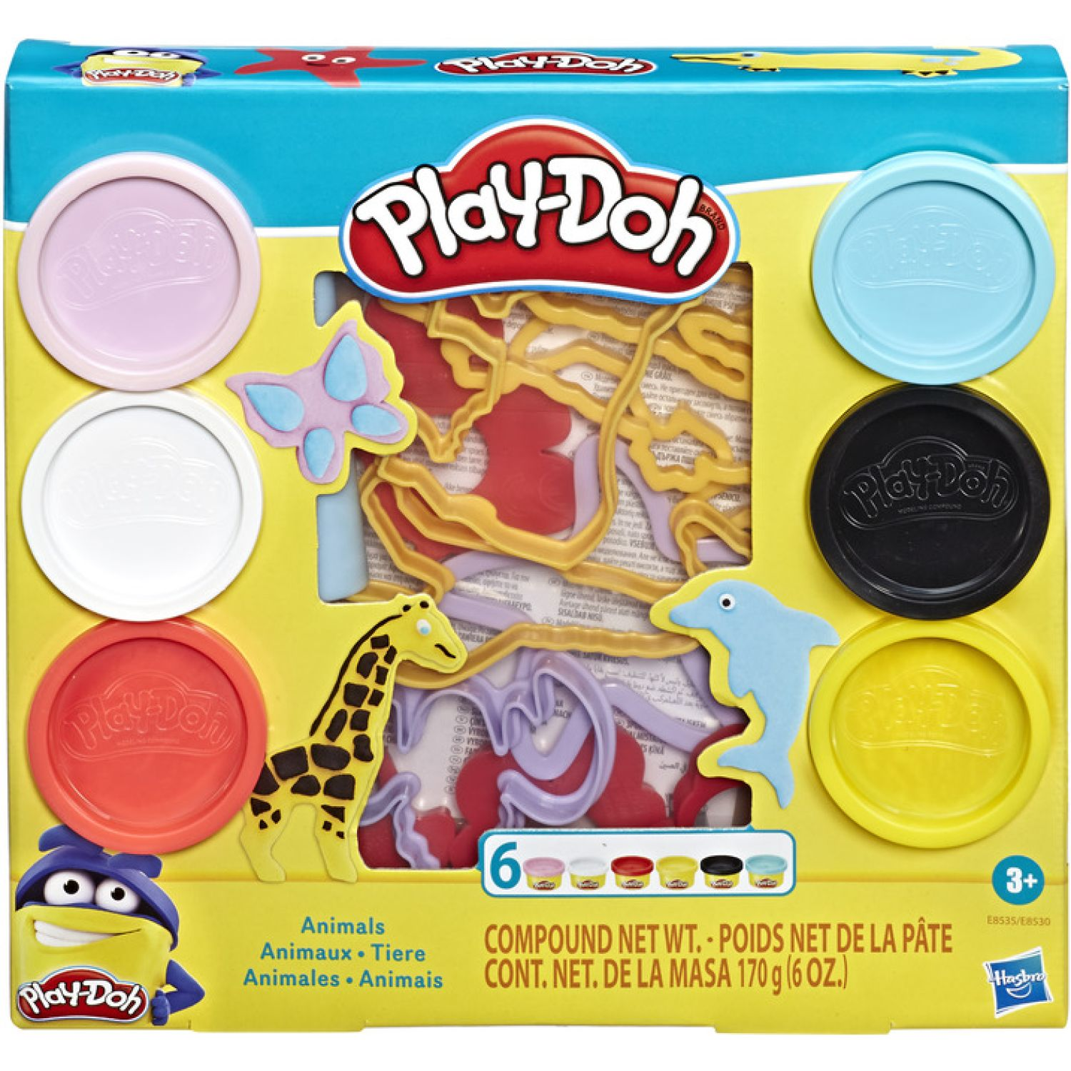 PLAY-DOH Pd Fundamentals Animals Varios Modelado y escultura