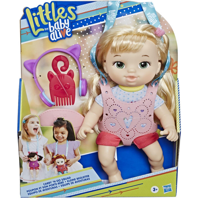 BABY ALIVE BA LTLS CARRY N GO GIRL BLD CRL HAIR Varios muñecas