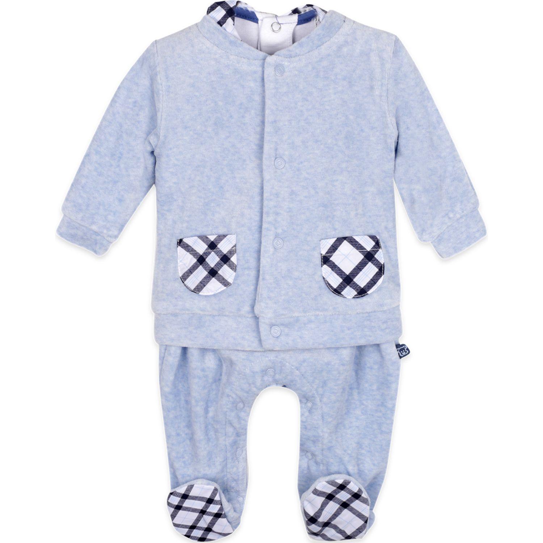 PILLIN Conjunto Plush Bebé Niño 3 Pcs. Celeste Juegos de Ajuar para Bebé