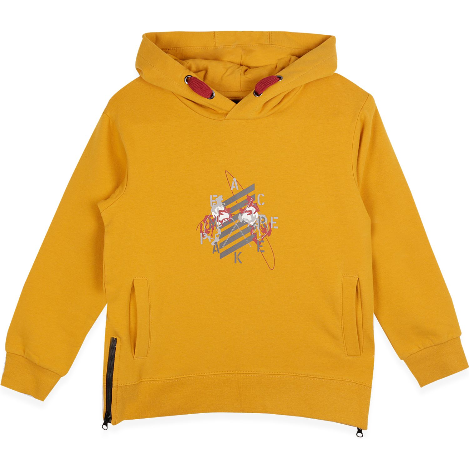 PILLIN Polerón Niño Mostaza Hoodies y Sweaters Fashion