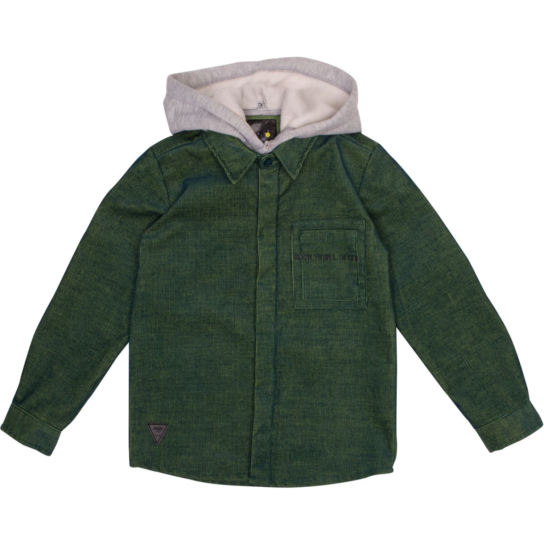 PILLIN Camisa Niño Verde Camisas con Botones