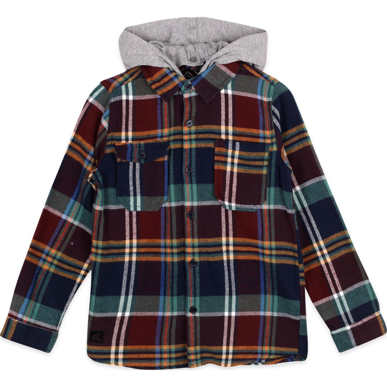 PILLIN camisa niño Burdeo Camisas con Botones