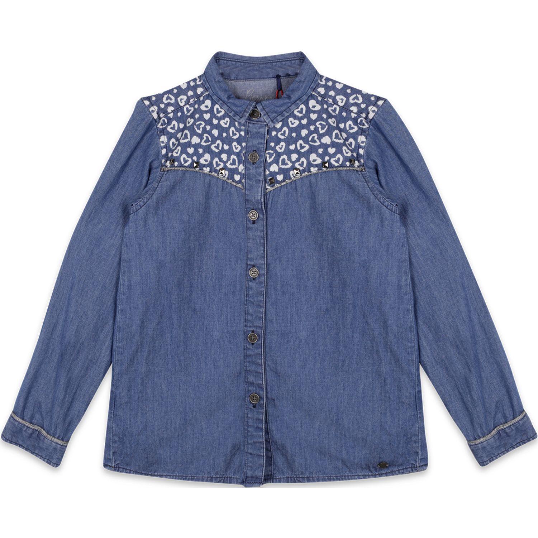 PILLIN Blusa Mezclilla Niña Azul Blusas y camisas con botones