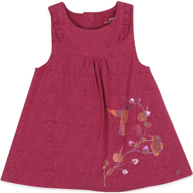 PILLIN Vestido Bebe Niña Rojo Vestidos