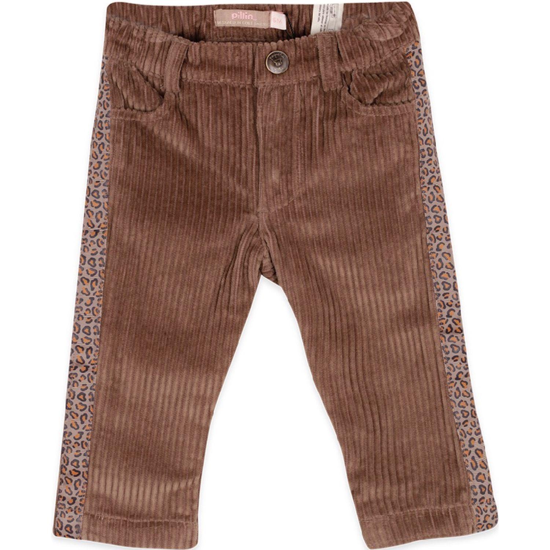 PILLIN Pantalón Bebe Niña Taupe Pantalones