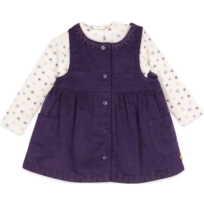 PILLIN Vestido Bebe Niña Morado Vestidos