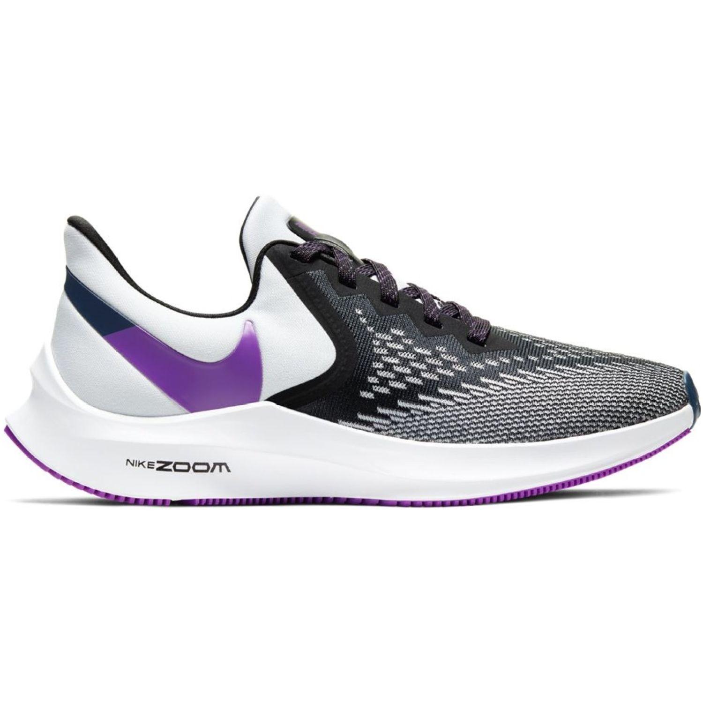 Nike WMNS NIKE ZOOM WINFLO 6 Negro / blanco Trail Running