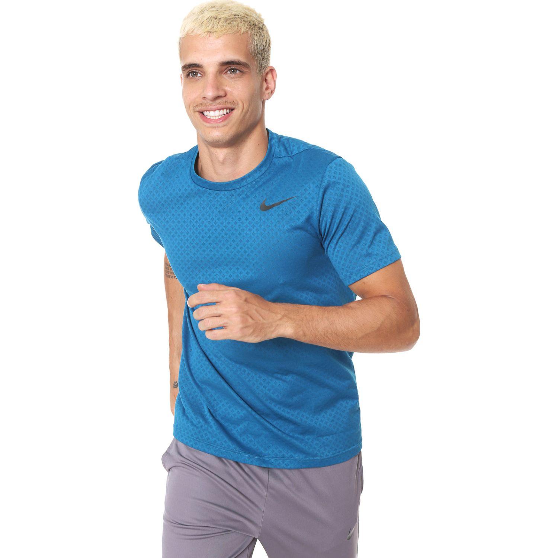 Nike m nk brt top ss vent Celeste Camisetas y Polos Deportivos