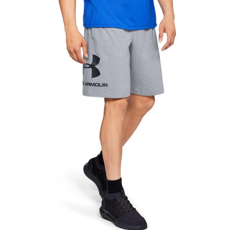 Under Armour sportstyle cotton logo short Gris Shorts Deportivos