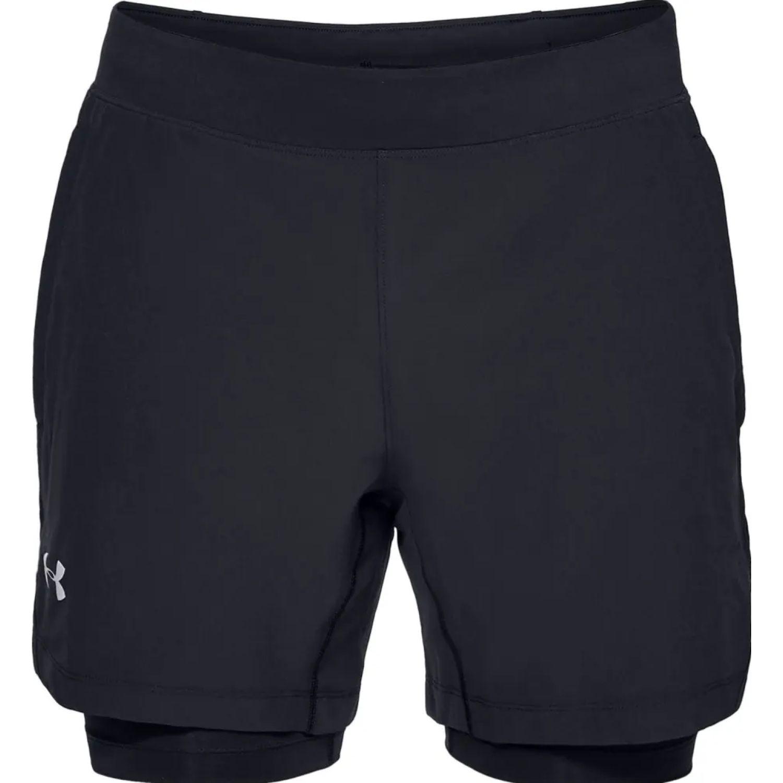 Under Armour ua qualifier speedpocket 2-n-1 short Negro Shorts Deportivos