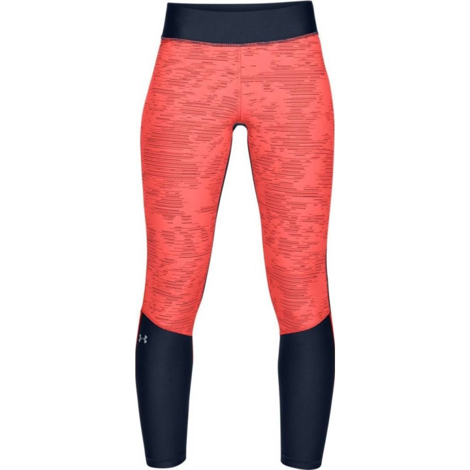 Under Armour UA HG Armour Jacq Ankle CropNVY Negro / coral Leggings