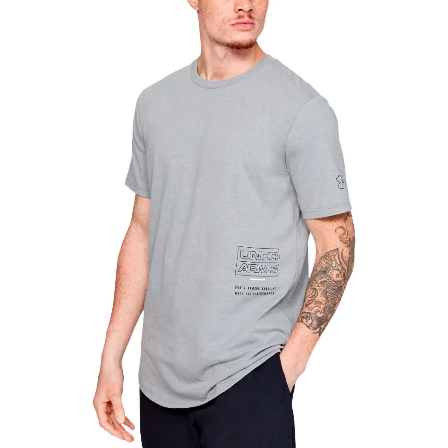 Under Armour baseline beyond the arc ss t Plomo Camisetas y Polos Deportivos