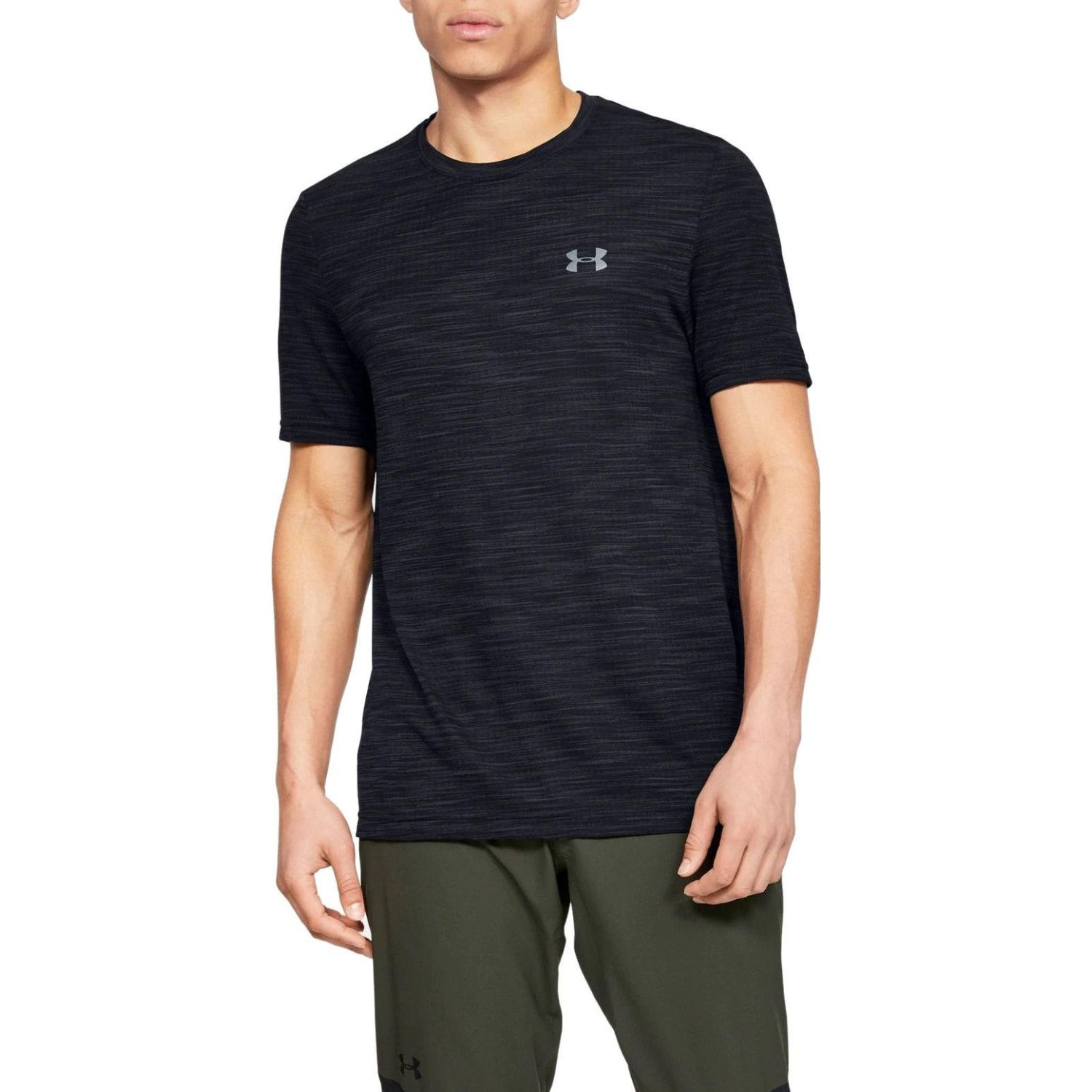 Under Armour vanish seamless ss nov 1 Negro Camisetas y Polos Deportivos