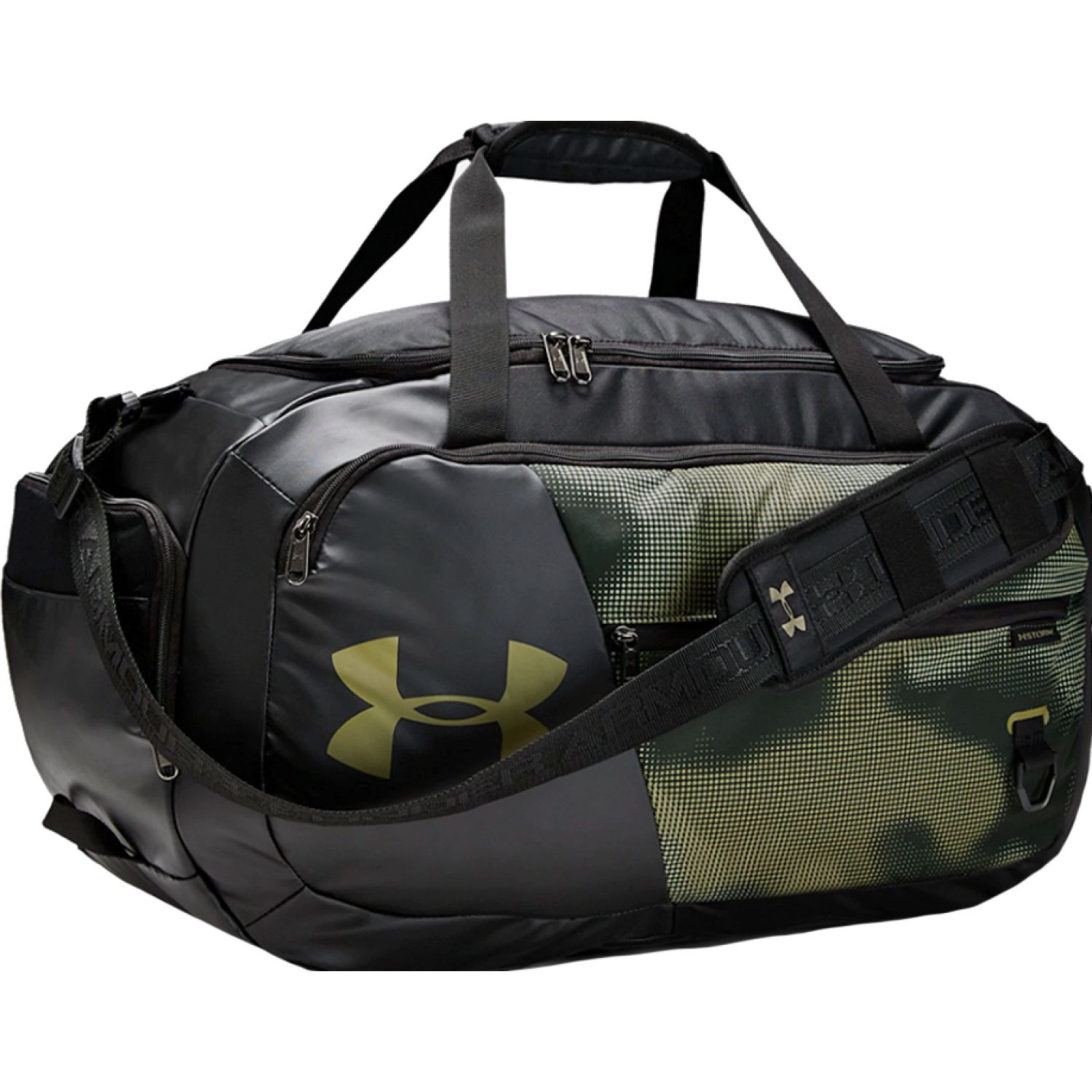 Under Armour Undeniable Duffel 4.0 MD Negro / verde Bolsos de gimnasio