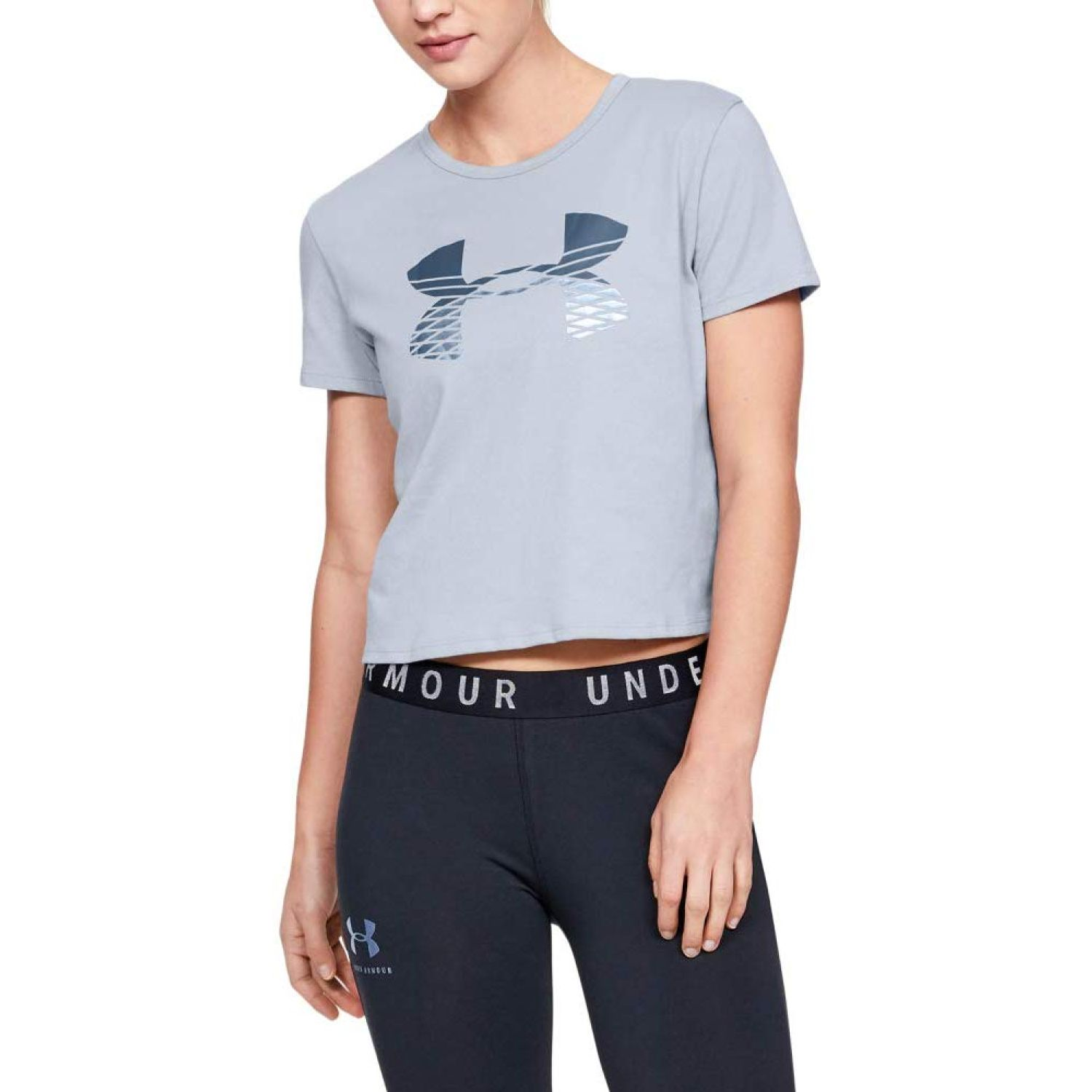 Under Armour Graphic Fashion Baby Tee Logo Gris Polos