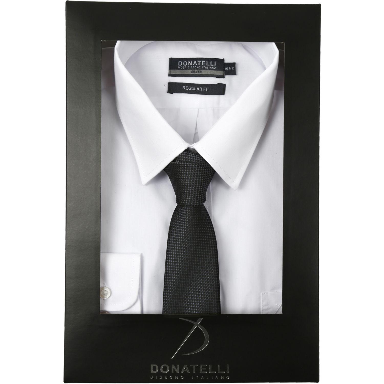 Donatelli Pack Camisa + Corbata Blanco / negro Camisas de Vestir