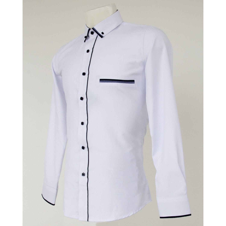 Donatelli Camisa Moda Ingenieria Blanco / azul Camisas de Vestir