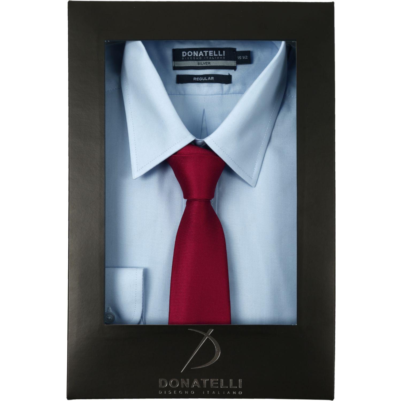 Donatelli Pack Camisa + Corbata Celeste / rojo Camisas de Vestir