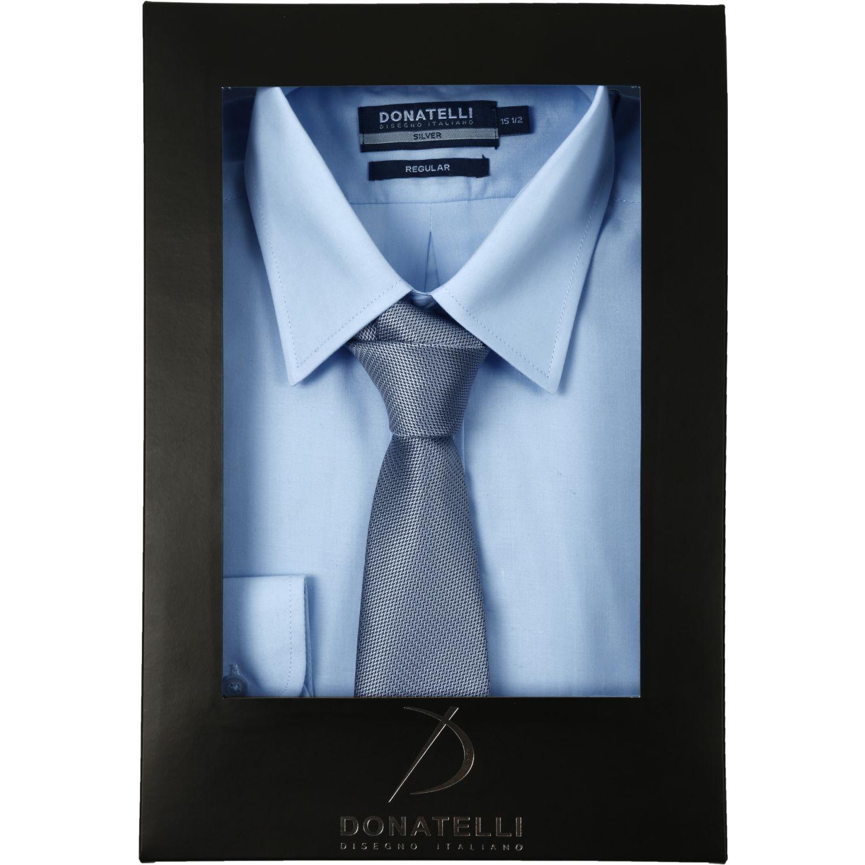 Donatelli Pack Camisa + Corbata Celeste / gris Camisas de vestir