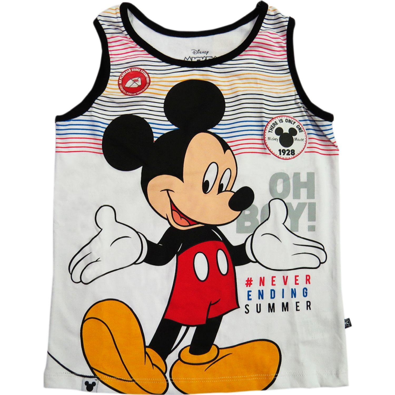 Mickey BVD BASICO Blanco Tank Tops