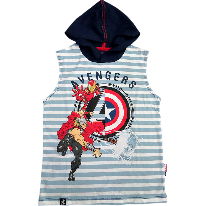 Avengers POLO MANGA CERO Celeste Hoodies y Sweaters Fashion