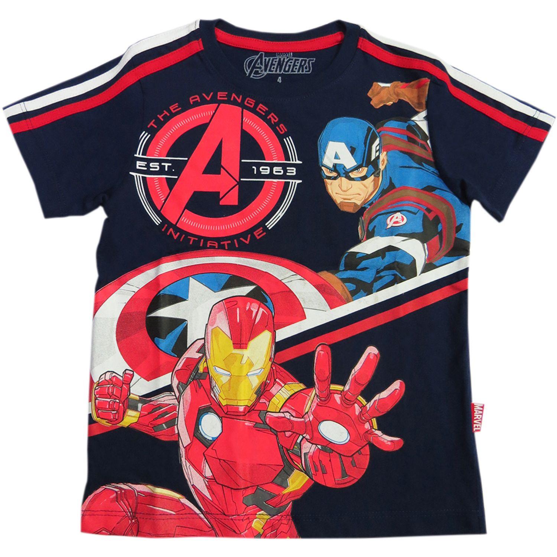 Avengers POLO MODA ML Azul Tees