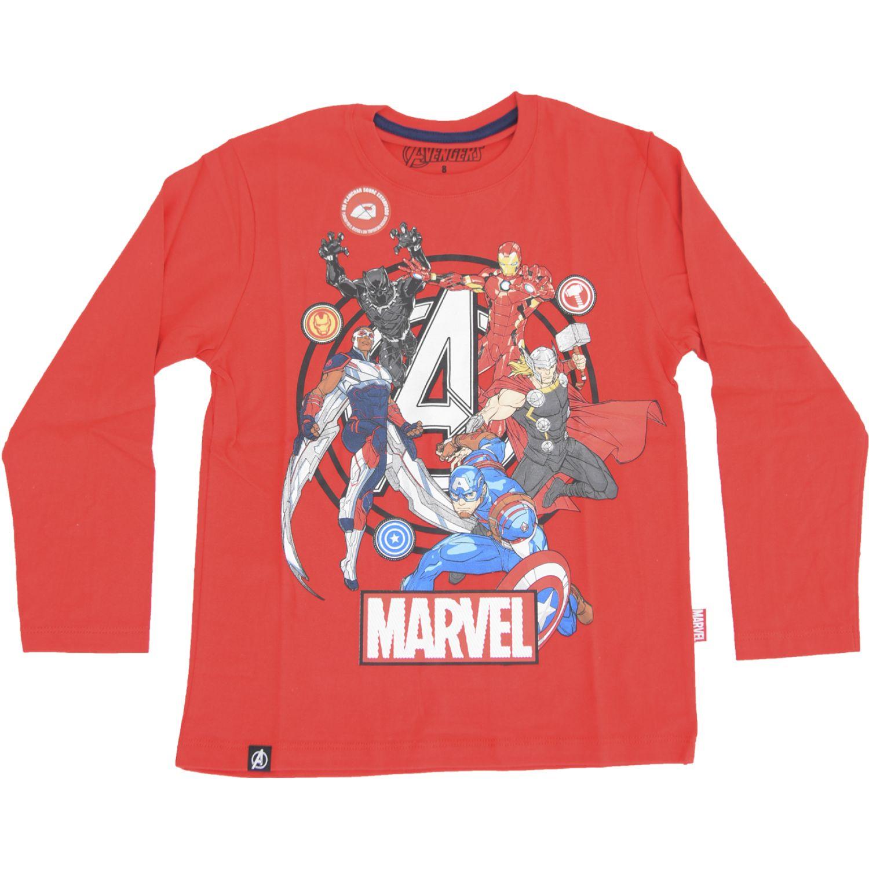Avengers POLO BASICO ML Rojo Tees