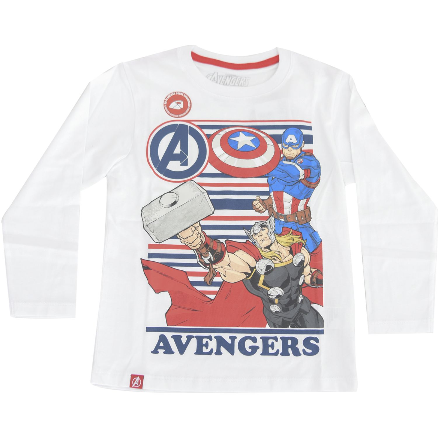 Avengers POLO BASICO ML Blanco Tees