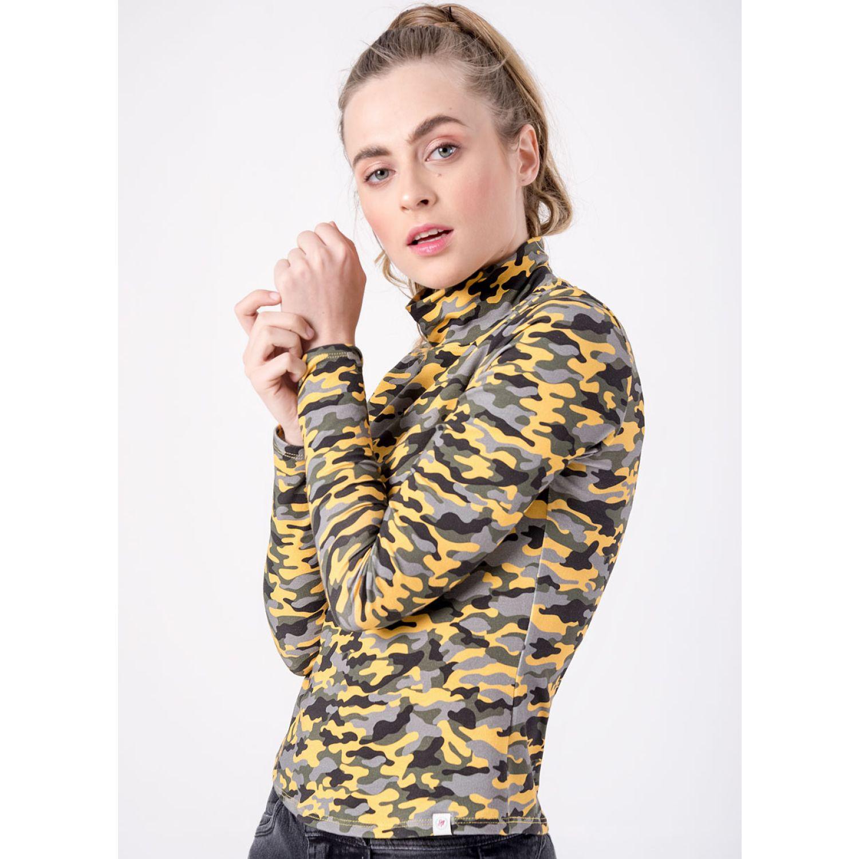 SQUEEZE HILY 1 CAMUFLADO MOSTAZA Hoodies y Sweaters Fashion