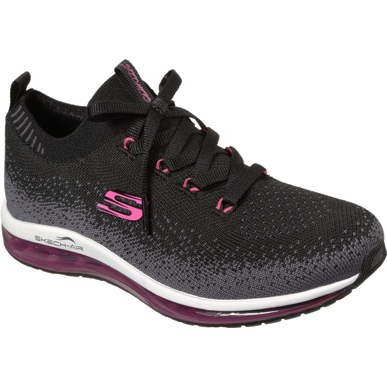 Skechers Skech-Air Element Negro / fucsia Para caminar