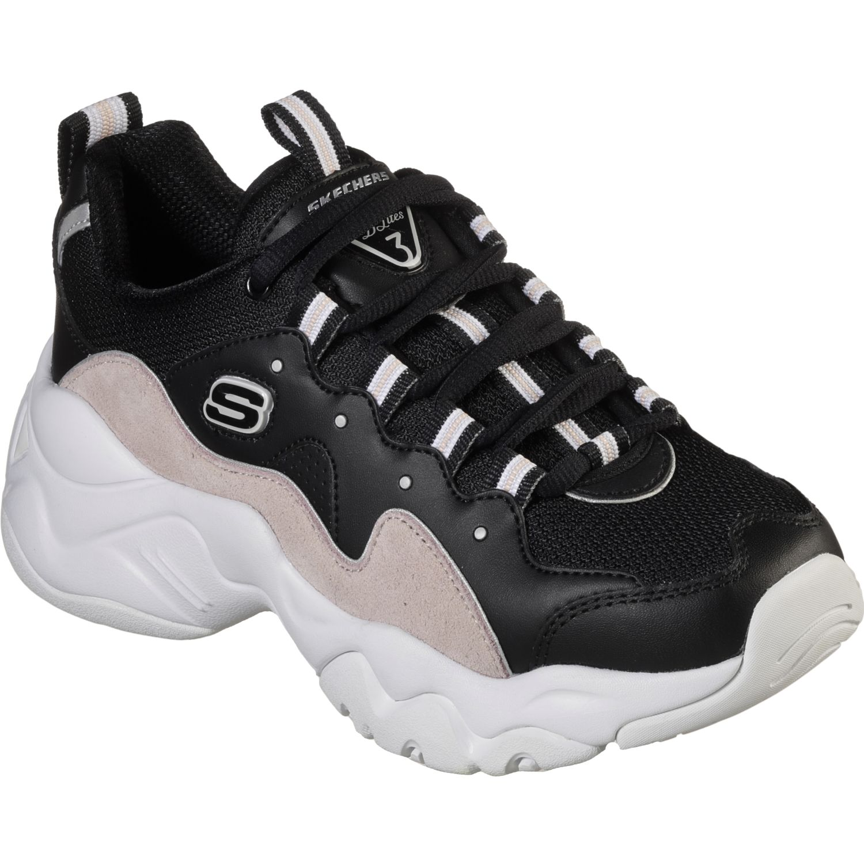 Skechers d'lites 3.0 Negro / rosado Walking