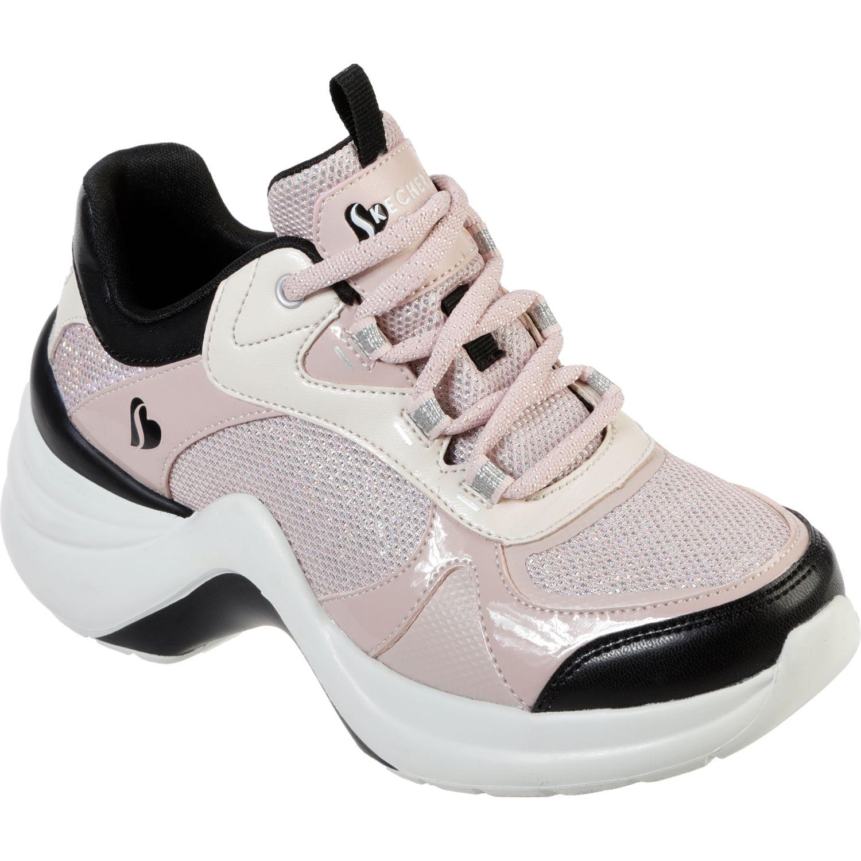 Skechers solei st. Rosado / blanco Walking