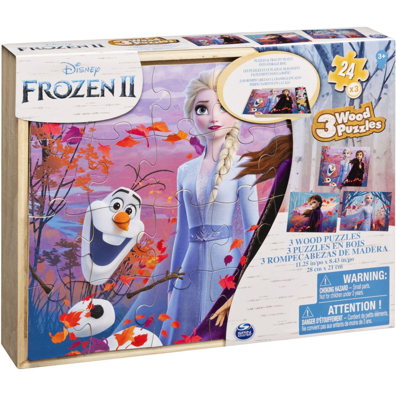 Frozen ROMPECABEZAS DE MADERA PACKX 3 Varios 3-D Puzzles