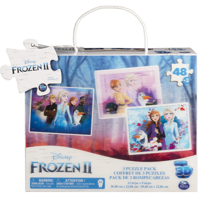 Frozen Rompecabezas Lenticular 3d X3-48pzas Varios Rompecabezas 3-d