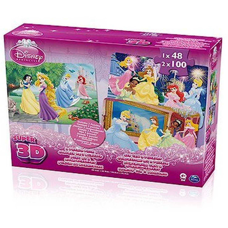 Princesas ROMPECABEZAS LENTICULAR 3D X3-48PZAS Varios Rompecabezas 3-D